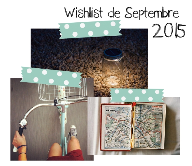 wishlist de septembre 2015